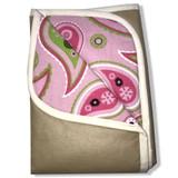 Ironing Blanket Reversible Multipurpose Pad Metalized Gold - Pink Paisley