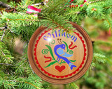 Hex Wood! Welcome Distelfink (03in) Personalized PA Dutch Hex Sign Ornament