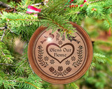 Hex Wood! Bless Home (03in) Personalized PA Dutch Hex Sign Ornament