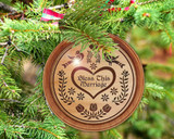 Hex Wood! Bless Marriage (03in) Personalized PA Dutch Hex Sign Ornament