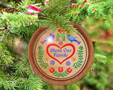 Hex Wood! Bless Family (03in) Personalized PA Dutch Hex Sign Ornament