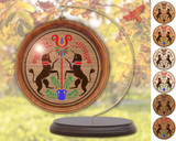 Hex Wood! Unicorns (03in) Personalized PA Dutch Hex Sign Ornament