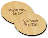 Hex Wood! Oak (03in) Personalized PA Dutch Hex Sign Ornament