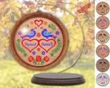 Hex Wood! Love/Marriage (03in) Personalized PA Dutch Hex Sign Ornament