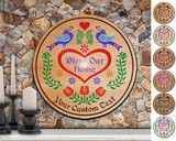 Hex Wood! Bless Home (24in) Personalized PA Dutch Hex Sign