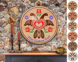 Hex Wood! Eagle (24in) Personalized PA Dutch Hex Sign