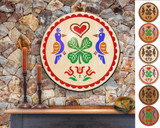 Hex Wood! Luck of the Irish (24in) Personalized PA Dutch Hex Sign