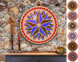 Hex Wood! Triple Star (24in) Personalized PA Dutch Hex Sign