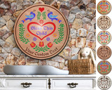 Hex Wood! Bless Child (24in) Personalized PA Dutch Hex Sign
