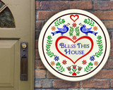 Bless This Home Hex Indoor/Outdoor Acrylic Sign 20-24in