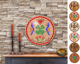 Hex Wood! Luck of the Irish (12in) Personalized PA Dutch Hex Sign