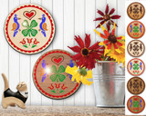 Hex Wood! Luck of the Irish (08in) Personalized PA Dutch Hex Sign
