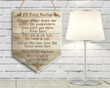 Popular PA Dutch Sayings  Hanging Wooden Banner
