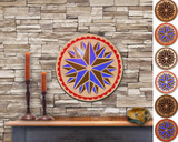 Hex Wood! Triple Star (12in) Personalized PA Dutch Hex Sign