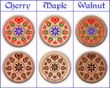 Hex Wood! Trinity Tulips (12in) Personalized PA Dutch Hex Sign