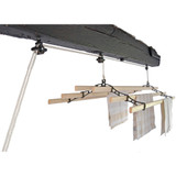 .Victorian Style 6-Slat  Cast-Iron Ceiling-Mounted Pulley Airer
