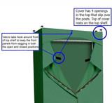 Premium Canvas/Duck Cover 30x14x56  fits Existing Garment/Shelf Unit