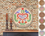 Hex Wood! Bless Home (16in) Personalized PA Dutch Hex Sign