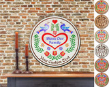 Hex Wood! Bless Family (16in) Personalized PA Dutch Hex Sign