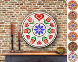 Hex Wood! Trinity Tulips (16in) Personalized PA Dutch Hex Sign