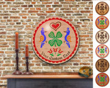 Hex Wood! Luck of the Irish (16in) Personalized PA Dutch Hex Sign