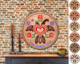 Hex Wood! Eagle (16in) Personalized PA Dutch Hex Sign