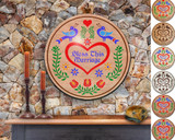 Hex Wood! Bless Marriage (24in) Personalized PA Dutch Hex Sign