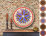 Hex Wood! Triple Star (16in) Personalized PA Dutch Hex Sign