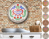 Hex Wood! Bless Child (16in) Personalized PA Dutch Hex Sign
