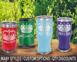 (PCB) Royalty Crown Polar Camel Travel Beer Tumblers w/ FREE Personalization
