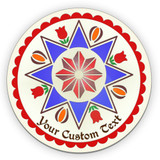 Eight-Pointed Star Traditional PA Dutch Hex Indoor/Outdoor Acrylic Sign (16-32in)