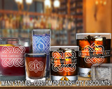 (GLC) Celtic Love Knot Monogram Whiskey and Shot Glasses w/ FREE Personalization
