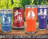 (PCB) Beach Summer Fun Polar Camel Travel Beer Tumblers w/ FREE Personalization