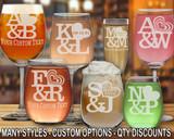 (GLA) Love Logo Wine Glasses w/ FREE Personalization