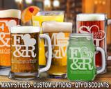 (GLB) Love Logo Beer Mugs/Glasses w/ FREE Personalization
