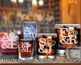 (GLC) Love Logo Whiskey and Shot Glasses w/ FREE Personalization