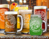 (GLB) Mighty Tiger Beer Mugs/Glasses w/ FREE Personalization