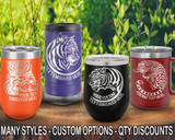 (PCA) Mighty Tiger Polar Camel Travel Wine Tumblers w/ FREE Personalization