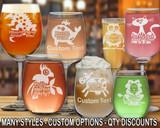(GLA) Party Fun Wine Glasses w/ FREE Personalization