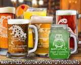 (GLB) Party Fun Beer Mugs/Glasses w/ FREE Personalization