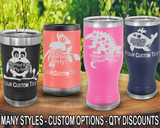 (PCB) Party Fun Polar Camel Travel Beer Tumblers w/ FREE Personalization