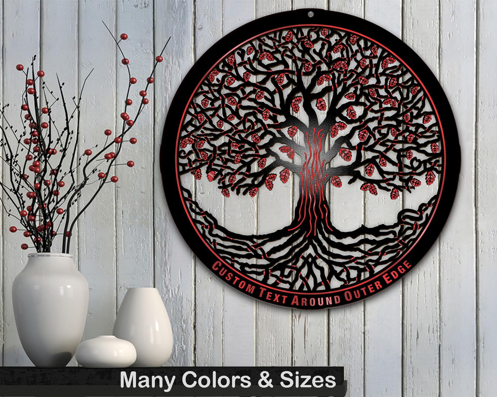 Tree Of Life Wooden W Modern Masters Metallic Paint