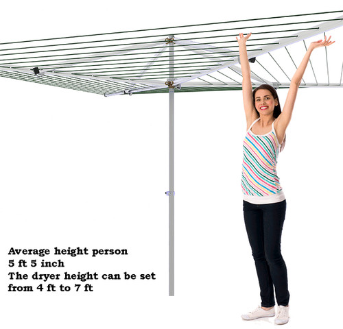 Breezecatcher HD4-270 Top-Spinner Large Capacity Clothesline