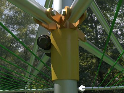 Breezecatcher TS4-140 Top-Spinner Outdoor Umbrella Clothesline …