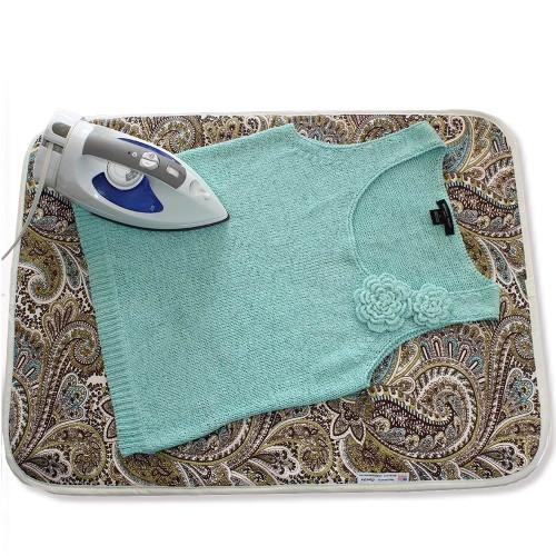 Ironing Blanket Reversible Multipurpose Pad Metalized Gold - Natural