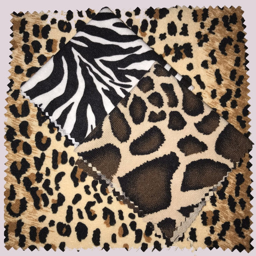 Screen Cleaning Cloths in Jungle Animal Prints (8 x 8 in) ~ Set of 3