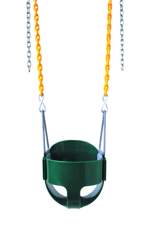 The plastisol chained full bucket swing is a blast. - Multiple Colors