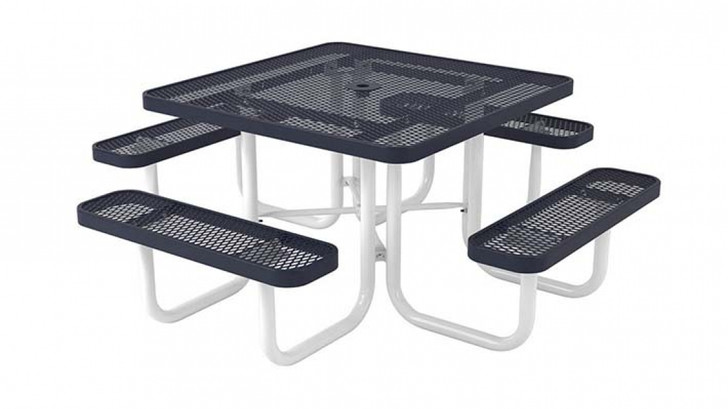 """Our UltraLeisure Square Portable Table features a 1 5/8"""" powder coated frame that makes this picnic table both durable and affordable."""