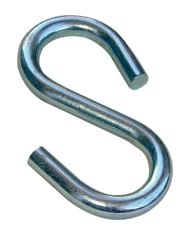 "Commercial Large End S-Hook 3/8"" x 4"" USA Made"