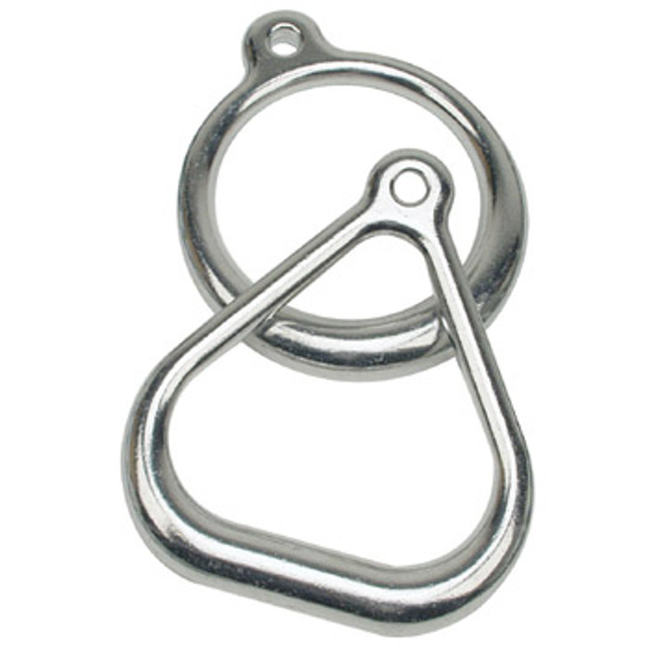Commercial Aluminum TRIANGLE Trapeze Ring Set of Two